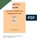 14754-SYHEMALIK-La Lettre Oubliee de Sigmund Freud-[InLibroVeritas.net]