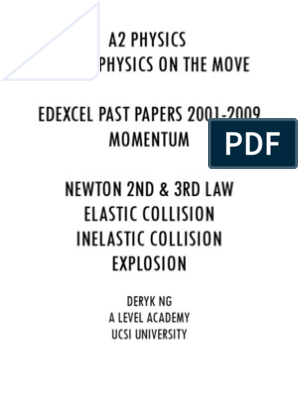 Ultimate Momentum Edexel Physics Past Papers Questions