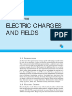 Electric Charges and Fields