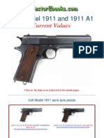 Colt Model 1911 and 1911 A1 Current Values