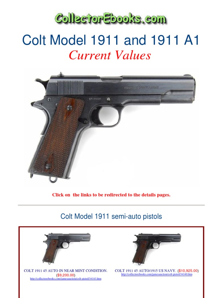 Colt Model 1911 and 1911 A1 Current Values | Small Arms