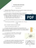 Lista Cap 23 Lei de Gauss