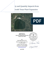 Water Quality and Quantity Impacts from Proposed South Texas Plant Expansion