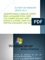 Active Directory en Windows Server 2012