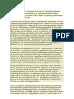 El Plan de Desarrollo Conocido como Pan de Integración Nacional