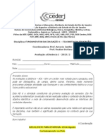 Ad1 de Fei - Filosofia 2013-2