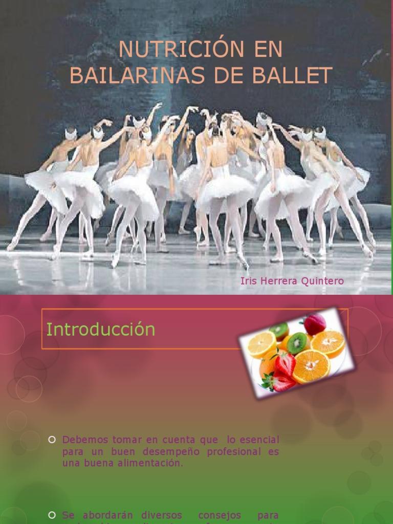 alimentación de una bailarina de ballet profesional