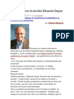 Entrevista Con El Escritor Eduardo Dayan