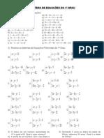 Exercicios de Sistemas de equações do 1º Grau.
