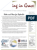 September Newsletter of Zion Lutheran Church in Sanborn