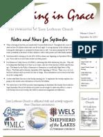 September Newsletter of Zion Lutheran Church in Sanborn