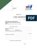 Anexo III - Solicitud Copia de Antecedentes
