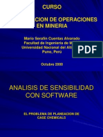 Analisis de Sensibilidad Case Chemicals