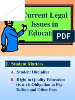 Current Legal Issues in Educationn