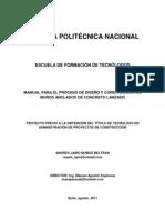 MANUAL PARA EL PROCESO DE DISEÑO Y CONSTRUCCIÓN DE MUROS ANCLADOS DE CONCRETO LANZADO