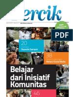 PERCIK. Media Informasi Air Minum dan Sanitasi. Edisi 1/2013. Belajar dari Inisiatif Komunitas
