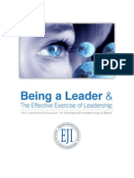Being a Leader & The Effective Exercise of Leadership