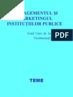 Managementul Si Marketingul Institutiilor Publice