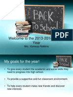 welcome to the 2013-2014 back to school night
