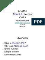 Ae4131 Abaqus