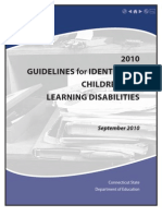 Learning Disability Guidelines