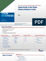 Opportunity in the Water Heaters Market in India_Feedback OTS_2013