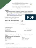 Relatório semestral de atividades discentes PPGAnt