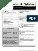 2013-14 pre-a syllabus