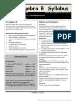 2013-14 pre-b syllabus
