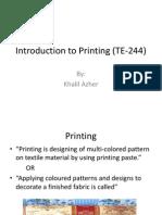 Intro to Printing