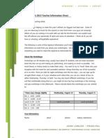 ArtFest 2013 Teacher Information Sheet