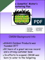 CMSM Mkt Plan