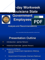 A Four-Day Workweek for Louisiana State Government Employees