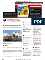 Documents Used in Foreign Trade Transactions - Shipping