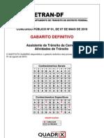 Gabarito -Prova- Assist. Trânsito- DF- 2010