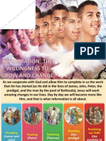 3rd Quarter 2013 Lesson 10 Reformation the Willingness to Grow and Change