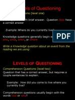 Levels of Questioning