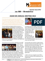 Asian MS Newsletter Summer Issue, 2012