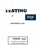 Testing Notes by Nageswara Rao