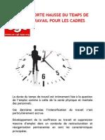 Forte Hausse Du Temps de Travail Pour Les Cadres