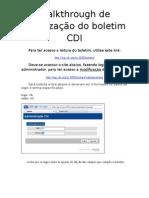 Walkthrough de atualização do boletim CDI