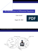 An Introduction to Differential Equations