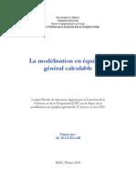 La modélisation en équilibre général calculable