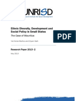 Ethnic Diversity, Development and Social Policy in Small States