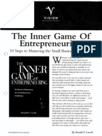 Autoestima y Autoayuda-W. Timothy Gallwey - The Inner Game of Entrepeneuring