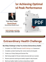 Formula for Achieving Optimal Health and Peak Performance