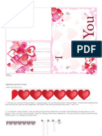 Valentines Day Pop Out Card Printable 0110