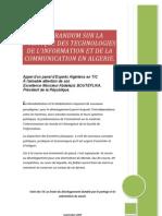 Memorandum Sur Les Technologies de l'Information et de la Communication  en Algerie