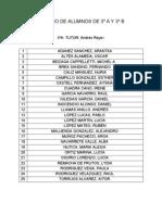 Listas 3ºA-3ºB 13-14