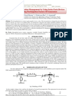 Transmission Congestion Management by Using Series Facts Devices and Changing Participation Factors Of Generators